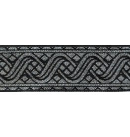 Cloak and Dagger Creations Ripple Knotwork Trim, Silver/Black (Reversible!)