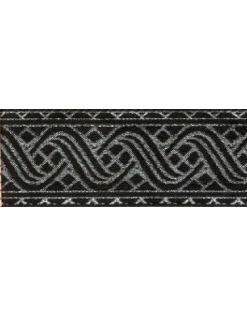 Cloak and Dagger Creations Ripple Knotwork Trim, Silver/Black (Reversible!)