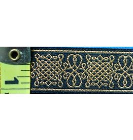 Cloak and Dagger Creations Royal Tudor Trim, Gold/Black