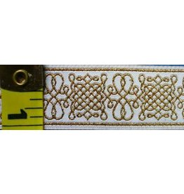 Royal Tudor Trim, Gold/White