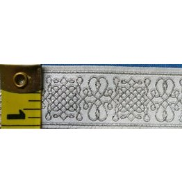 Cloak and Dagger Creations Royal Tudor trim, Silver/White