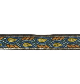 Cloak and Dagger Creations Running Mosaic Vine Trim, Gold/Blue