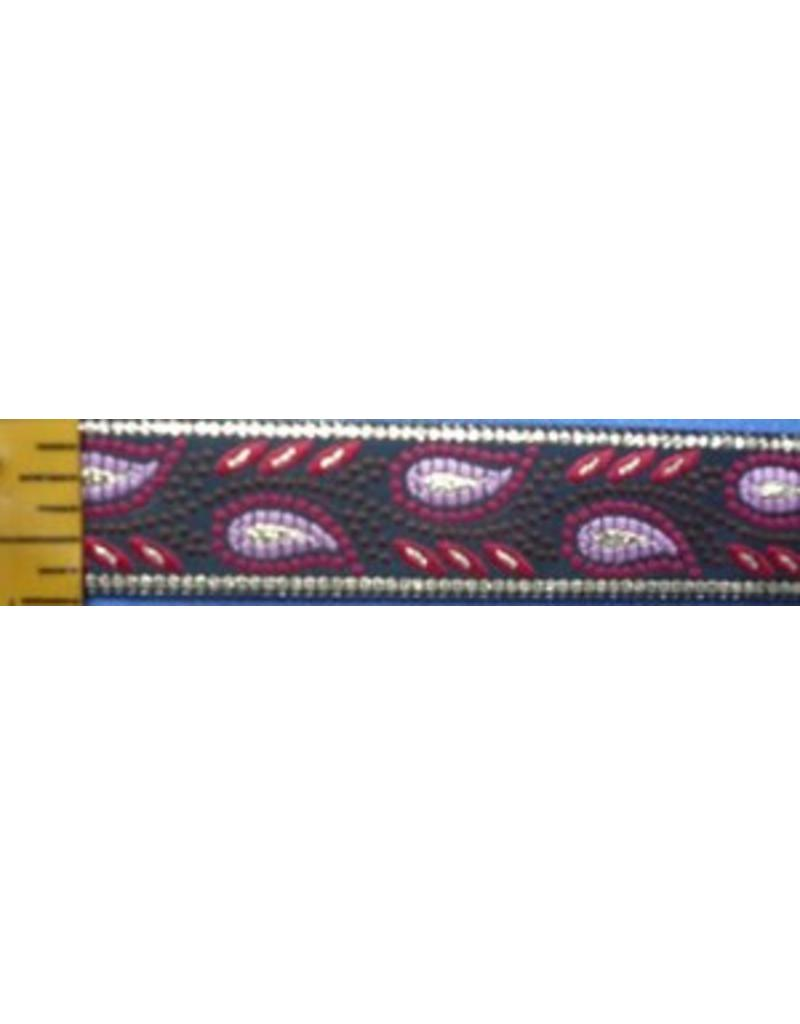 Cloak and Dagger Creations Running Mosaic Vine Trim, Red/Pink/Gold
