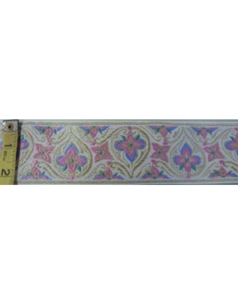 Cloak and Dagger Creations Stained Glass Trim, Pink/White