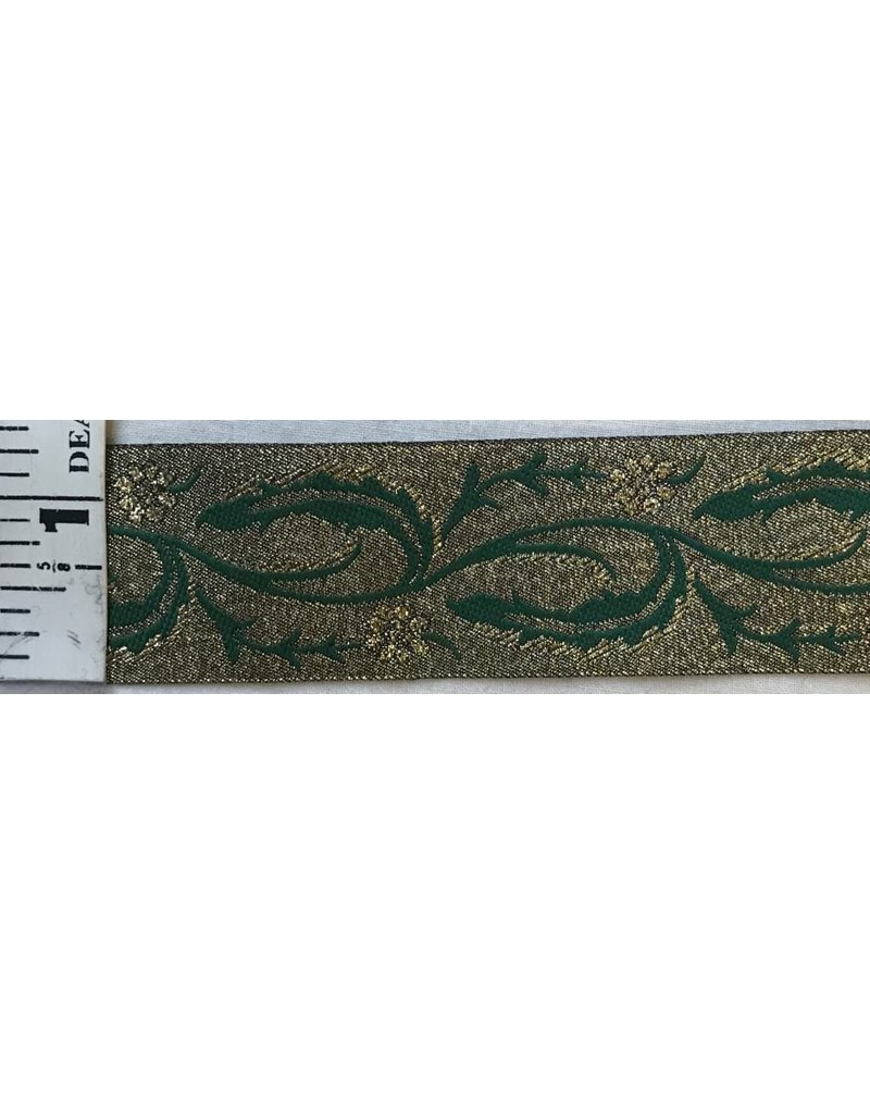 Cloak and Dagger Creations Vine with Thorns Trim, Green/Gold