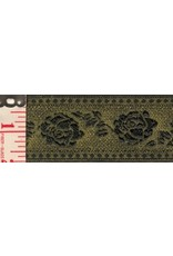 Cloak and Dagger Creations Tapestry Rose Trim - Gold and Black