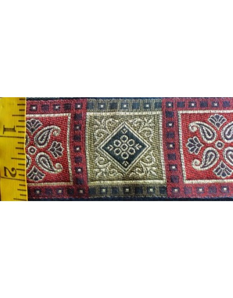 Cloak and Dagger Creations Tudor Block Trim Red/Black