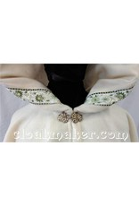 Cloak and Dagger Creations Elizabethan Floral Trim, Gold/Green