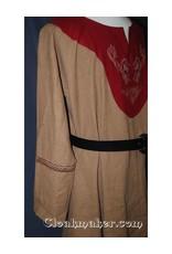 Cloak and Dagger Creations 3 Strand Celtic Braid Trim, Tan on Burgundy - Medium