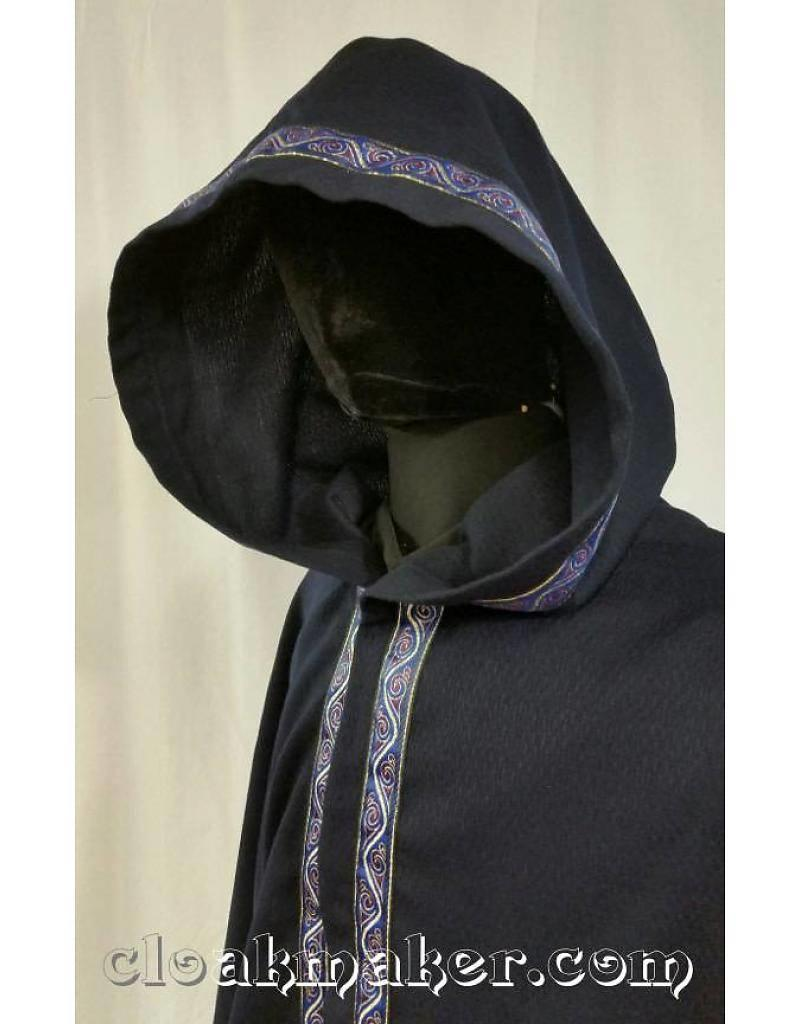Cloak and Dagger Creations Stylized Swirl Trim, Gold/Blue