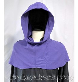 Cloak and Dagger Creations H159 – Periwinkle Purple Wool Hooded Cowl, Large