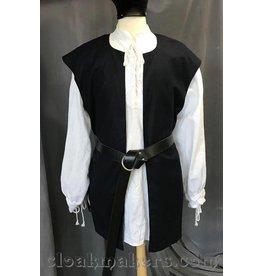 Cloak and Dagger Creations J550 - Navy Blue Wool Open Neck Viking Tunic Vest - XL