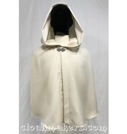 3815 - Ivory Cream Polyester Shaped Shoulder Cloak