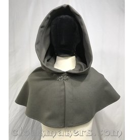 3814 - Sage Green Wool Shaped Shoulder Cloak