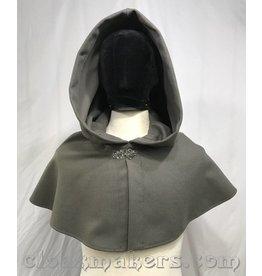 Cloak and Dagger Creations 3814 - Sage Green Wool Shaped Shoulder Cloak
