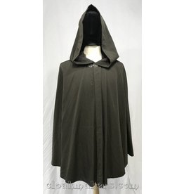 Cloak and Dagger Creations 3807 - Mushroom Brown Full Circle Cloak with Long Pointy Liripipe Hood