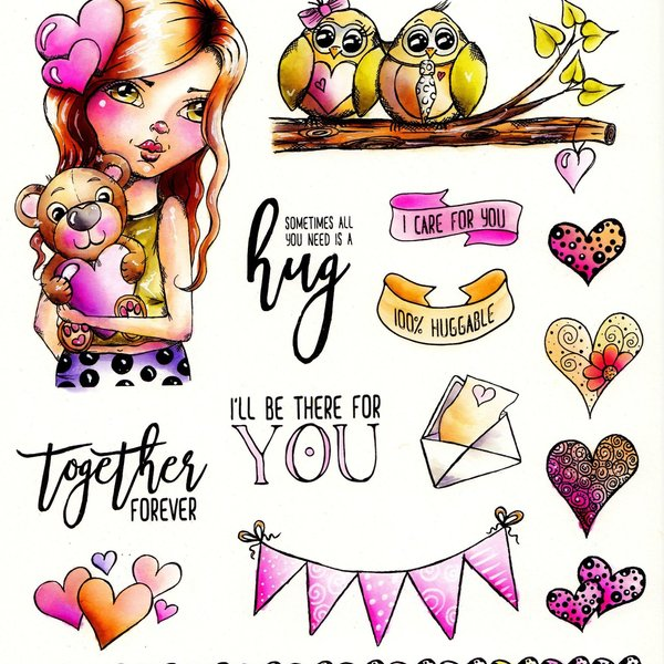 LDRS Huggable Cre8tive Cre8tions Rubber Stamp