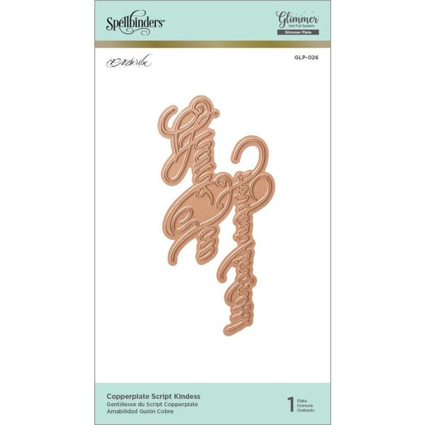 Spellbinders Glimmer Impression Plate (copperplate script kindness)