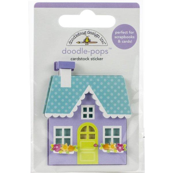 Doodlebug Doodle-Pops 3D Stickers  (cozy cottage)