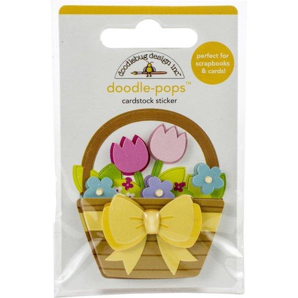 Doodlebug Doodle-Pops 3D Stickers (flower basket)