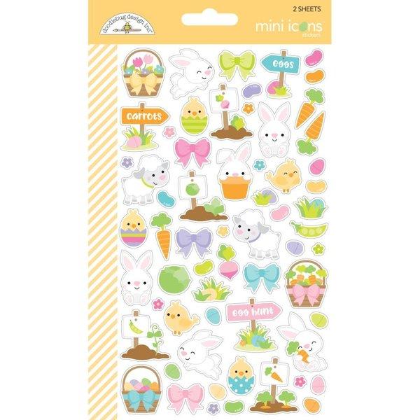 Doodlebug Mini Cardstock Stickers (hoppy easter icons)