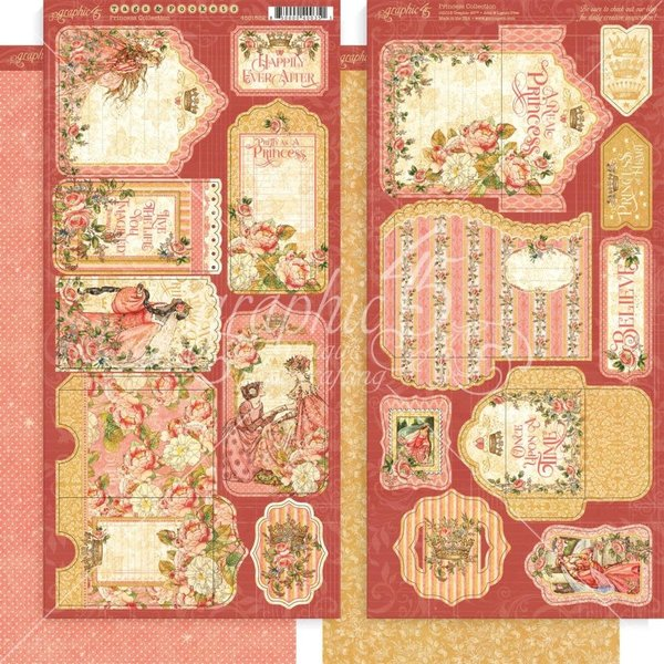 Graphic 45 Princess Cardstock Die-Cuts (tags & pockets)
