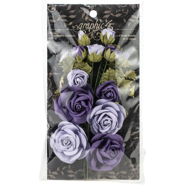Graphic 45 Staples Rose Bouquet Collection (french lilac & purple royalty)