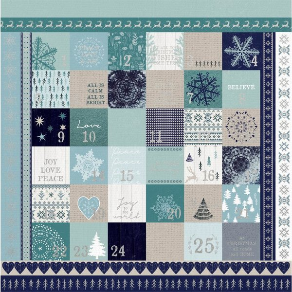 Kaisercraft Wonderland Foiled Cardstock 12X12 (advent)