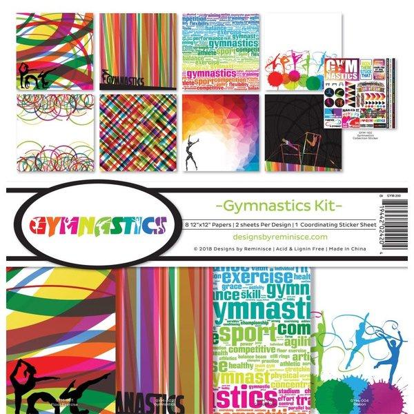 Reminisce Collection Kit 12X12 - Gymnastics