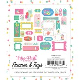 Echo Park Paper Let's Party Cardstock Die-Cuts (frames & tags)