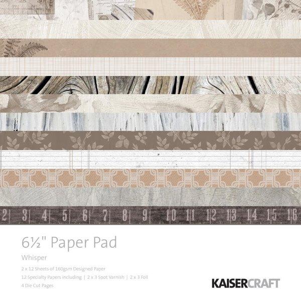 Kaisercraft Paper Pad 6.5X6.5 (whisper)
