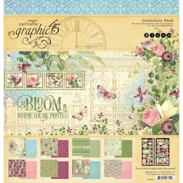Graphic 45 Collection Pack 12X12 (bloom)