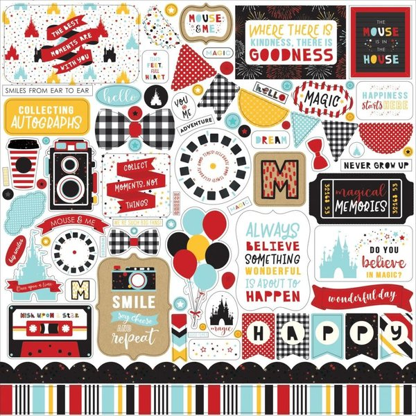 Echo Park Paper Magical Adventure 2 Cardstock Stickers 12X12 (elements)