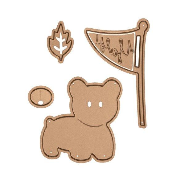 Spellbinders Shapeabilities Die (my little red wagon - bear scout)