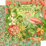 Graphic 45 Lost In Paradise Cardstock 12X12 (lost in paradise)