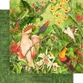 Graphic 45 Lost In Paradise Cardstock 12X12 (welcome to the jungle)