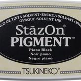 Tsukineko StazOn Pigment Ink Pad - Piano Black