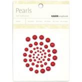Kaisercraft Self-Adhesive Pearls (red)