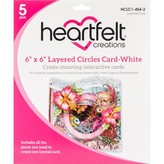 Heartfelt Creations Layered Card with Circles 6X6 (white)