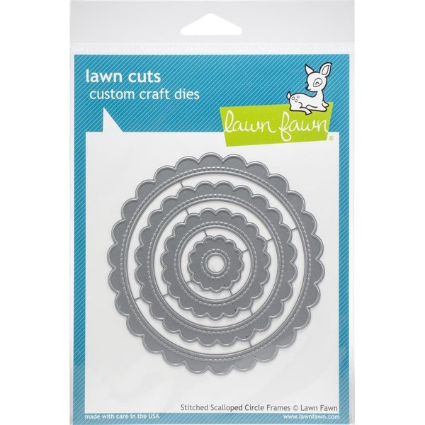 Lawn Fawn Dies (stitched scalloped circle frames)