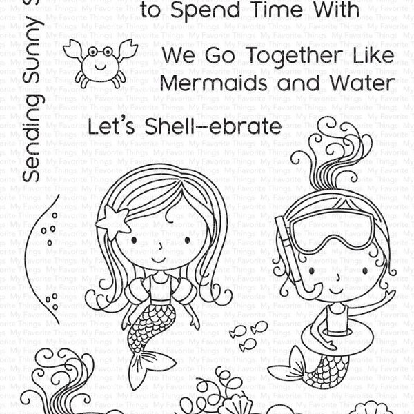 My Favourite Things Stamps (mermaid for each other)