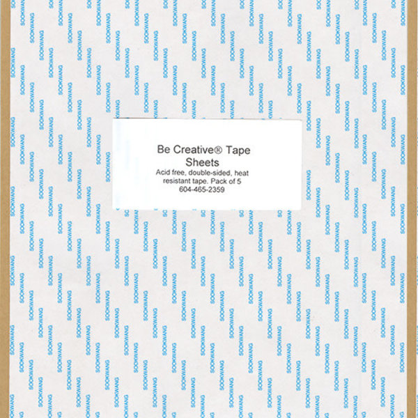 Be Creative Tape - Sheets (5 pack)