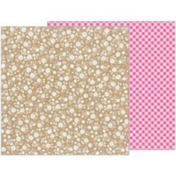 Pebbles Forever My Always Double-Sided Cardstock 12X12 (love lace)