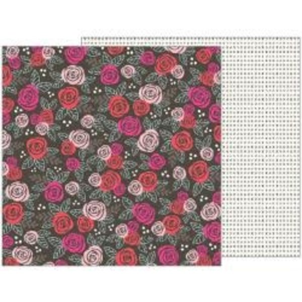 Pebbles Forever My Always Double-Sided Cardstock 12X12 (date night)