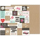 Pebbles Forever My Always Double-Sided Cardstock 12X12 (love notes)