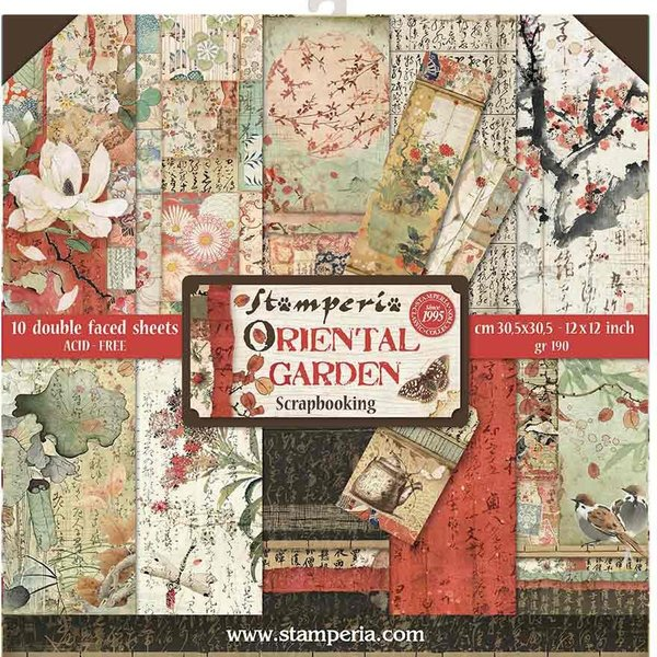 Stamperia Intl Stamperia Double-Sided Paper Pad 12X12 - Oriental Garden