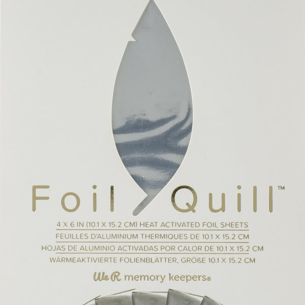 We R Memory Keepers Foil Quill Foil Sheets 4X6 - Silver Swan