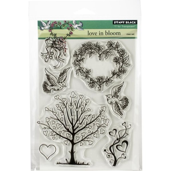 Penny Black Clear Stamp Set (love in bloom)