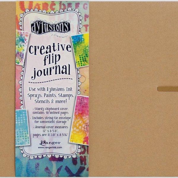Dylusions Creative Flip Journal (kraft 12X8.5)