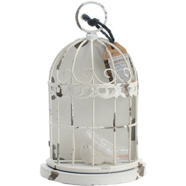 Prima Marketing Frameworks Metal Birdcage (antique white)